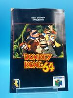 jeu video notice BE nintendo 64 FAH donkey kong 64