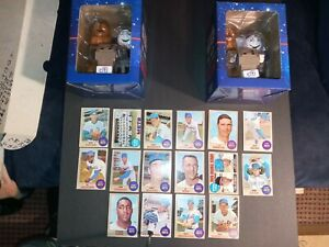 MR. MET & CHEWBACCA BOBBLE HEAD LOT OF (2) PLUS BONUS 16 1968 TOPPS METS CARDS