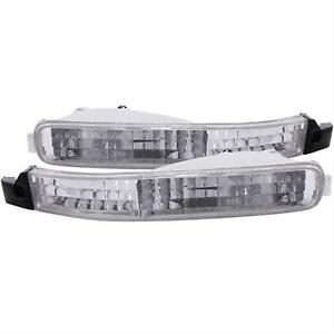 ANZO Parking/Signal Lights Chrome Clear For Honda Accord 92-93 #511007