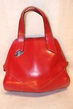 Cromia Women's Italian Leather Red Logo Large Purse Tote Bag $378