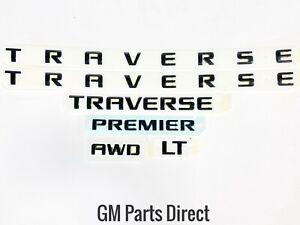 2018 - 2021 Chevy Traverse Emblem Nameplate Package Black GM OEM 84950540