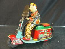 1950'S JAPAN SAS SILVER PIGEON FRICTION MOTORCYCLE SCOOTER AUTO BIKE TIN TOY