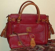 Dooney & Bourke Leather Medium Pocket Satchel with Key Fob and Wristlet