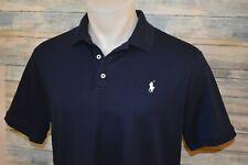 POLO RALPH LAUREN CLASSIC FIT Men's S/S Soft Cotton Shirt Navy Size Large
