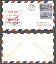 1954 Fulton County Georgia Airport Dedication  Cover stk#65