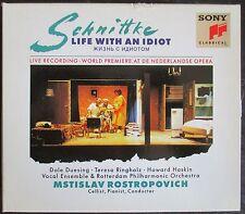 SCHNITTKE 'LIFE WITH AN IDIOT' - MSTISLAV ROSTROPOVICH - 2-CD BOX SET - NEW