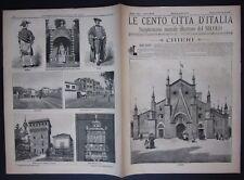 1895 CHIERI Le cento città d'Italia Sonzogno Editore numerose illustrazioni