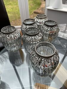 Beautiful Silver Glass Vases For Wedding Table Decoration. 16  centrepiece