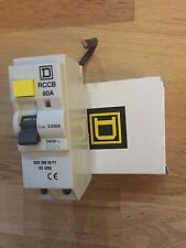 Square D RCD 80 Amp 30mA Double Pole 80A Type QOE RCCB QOE20030PT Pig Tail