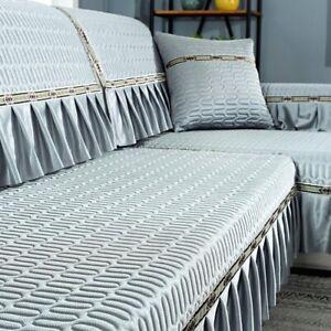 Latex Ice Silk Sofa Cushion Nordic Modern Non-slip Mat Cushion Cover Cover Towel