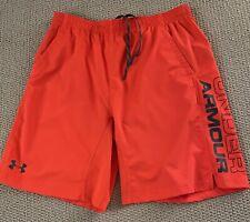 UNDER ARMOUR Men's Sport Shorts Neon Orange SV449 (size XL)