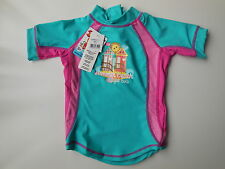 NEW Bright Bots baby girl rash top bathers UPF 50+ size 1 Fits 12mths RRP $32.95