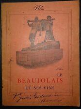 GODART et BENDER: Le Beaujolais et ses vins / 1931