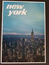 ORIGINAL 1960's NEW YORK CITY USA TRAVEL POSTER VINTAGE NY EMPIRE STATE BUILDING