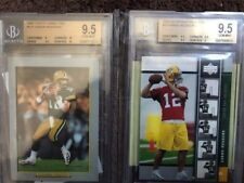 2005 Upper Deck Premiere & Topps Turkey Red Aaron Rodgers Rookie BGS 9.5 w/10's