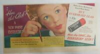 Eversharp Red Top Lead Ad: Hear That Click ! from 1940's Size: 7 x 15 inches