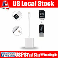 2in1 USB SD Card Camera Reader Photo Adapter Data Transfer For iPhone 8/7/6 Plus