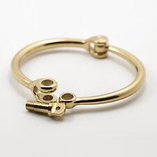 Bijouone Gold Reeve Screw Cuff Bracelet Unisex Style