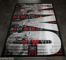TAPPETO MODERNO 120 X 170 NERO GRIGIO METRO NEW YORK CITY CAMERETTA NUOVO I66