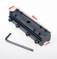 """US 3/8"""" Dovetail Weaver Picatinny 11-20mm Scope Riser Mount Rail Base Converter"""