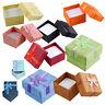 5X(24 Pcs Ring Earring Jewelry Display Gift Box Bowk Square Case K9M8)