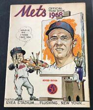 1968 The New York Mets Official Year Book Shea Stadium Original Ryan RC. F18