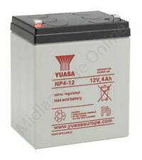 Yuasa Battery, Genuine, 12v / 4Ah Sealed Lead Acid Battery - NP4-12 FREE P&P
