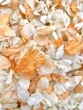 Orange Ivory Dried Natural Biodegradable Wedding Confetti. Real Flower Petals