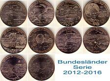 """10 x 10 Euro Kupfer 2012-2016 prägefrisch in """"Dose der Münze Österreich"""""""