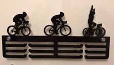 5mm Thick Acrylic 3 Tier CYCLING Medal Hanger / Holder / Rack With Standoffs