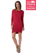 GUESS Jumper Dress Size XS Dipped & Embellished Hem Scoop Neck W63K19Z4Z00