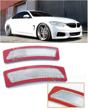For 14-Up BMW F32 F33 F36 4-Series | CLEAR Bumper Reflector Side Marker Lights