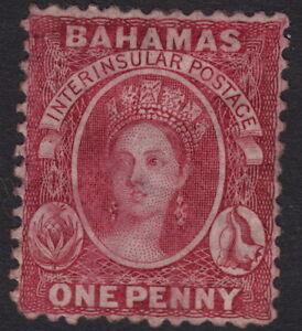 BAHAMAS: 1863 1d carmine-lake perf 12 1/2  SG 21 mint