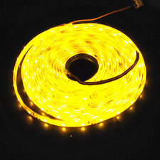 12V yellow 5M 3528 SMD 300 Led Strips Strip Lights Waterproof Boat Car Caravan