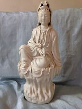 20TH CENTURY CHINESE Blanc de Chine statue de Guanyin Nice crémeux Tone