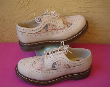 Dr. Doc Martens Ivory Wingtip Oxford with FLORAL Pattern Womens 38 7