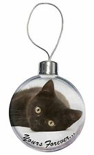 Black Cat 'Yours Forever' Christmas Tree Bauble Decoration Gift, AC-131CB