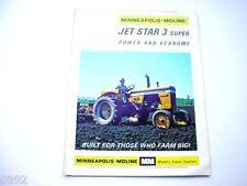 Minneapolis Moline Jet Star 3 Super Farm Tractor Brochure