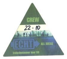Echt - Freischwimmer Tour 1999 - Konzert-Satin-Pass Crew  - echtes Sammlerstück