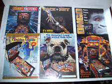 Lot Of (6) ORIGINAL NOS WILLIAMS WPC-95 PINBALL MACHINE FLYERS 1995-97 set  #19