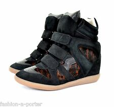 ISABEL MARANT BENETT PONY OVER BASKET SNEAKERS TRAINERS EU 40 US 10 UK 7