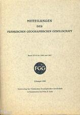 Mitteilungen der Fränkischen Geographischen Gesellschaft Bd 13/14 Busch Zantner