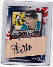 JEFF ODGERS 11/12 ITG Enforcers Auto Autograph A-JO Signed Signature Hockey Card