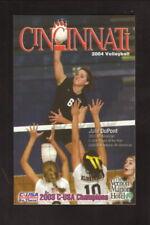 Cincinnati Bearcats--2004 Volleyball Pocket Schedule--Vernon Manor Hotel