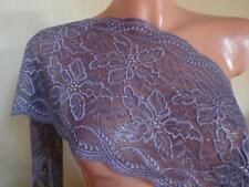 Französische elastische Spitze,Spitzenborte,lace  lavendel lila 21cm breit