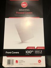 NEW GBC Ibico Polycovers Presentation Covers 100 Pack Binder - #A12