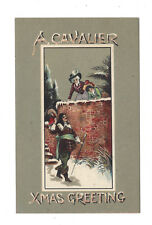 Vintage postcard A Cavalier Xmas Greeting written to Esther from Beatrice