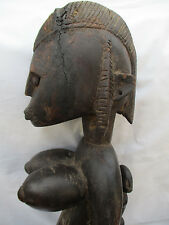 VINTAGE LARGE AFRICAN TRIBAL CARVED WOOD WOMAN FERTILITY SCULPTURE