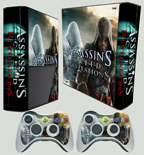 XBOX 360 E MODEL ASSASSINS EZIO ALTAIR STICKER SKIN DECALS & 2 PAD STICKER SKIN