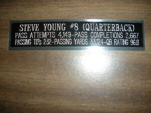 STEVE YOUNG (49ERS) ENGRAVED NAMEPLATE FOR PHOTO/DISPLAY/POSTER